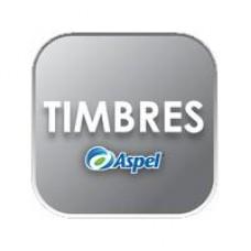 ASPEL 10000 TIMBRES (PARA FACTURE, CAJA, SAE O NOI) (ELECTRONICO), - Garantía: SG -