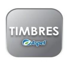 ASPEL 200 TIMBRES (PARA FACTURE, CAJA, SAE O NOI) (FISICO), - Garantía: SG -