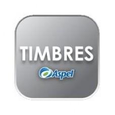 ASPEL 20000 TIMBRES (PARA FACTURA, CAJA, SAE O NOI) (ELECTRONICO), - Garantía: SG -